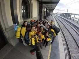'Selfie' dels Llops i Daines anant de sortida.  AEiG Montpalau