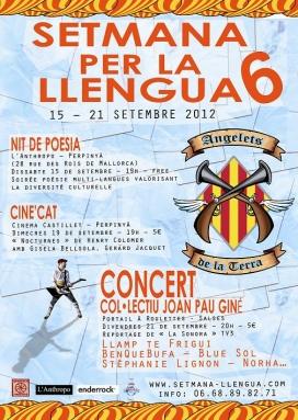 Cartell de la 6a edició de la setmana per la llengua