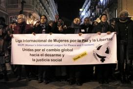Manifestació de la Lliga Internacional de Dones per la Pau i la Llibertat, guanyadora de l'any 2014. Font: Aipaz.org