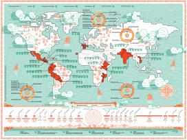 Mapa de projectes de la Memòria 2015 d'Ajuda en Acció. Font: Ajuda en Acció