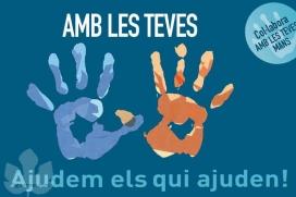 El logotip de l'ONG Amb les teves mans