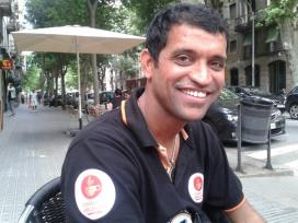 Amin Sheikh ha viatjat sovint a Catalunya, per donar a conèixer el seu projecte