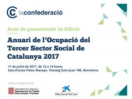 Cartell Presentació de l'Anuari de l'Ocupació del Tercer Sector Social de Catalunya
