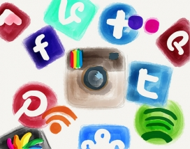 Il·lustració d'icones d'aplicacions mòbils. Font: Tanja Scherm (Fickr)