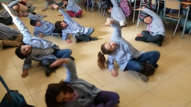 """Taller """"Respira al teu ritme"""", a l'Escola Arrels. Font: Blog del Programa SI!"""