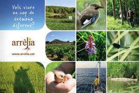 Arrelia és una iniciativa amb la finalitat que l'ecoturisme esdevingui una font de recursos per a les entitats ambientals dedicades a la custòdia del territori  (imatge:Arrelia.cat)