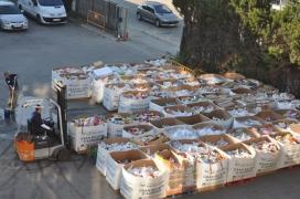 Arribada d'aliments al magatzem del Banc. Font: Banc dels Aliments (flickr)