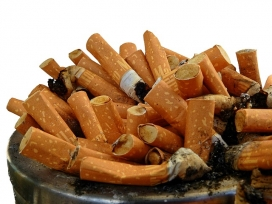 La contaminació de les burilles i el fum del tabac