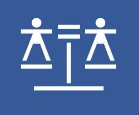 La icona que representa la justícia gratuïta