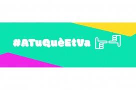 Logo de la iniciativa, amb els 'like' i el 'dislike' que es poden fer servir per respondre el qüestionari proposat