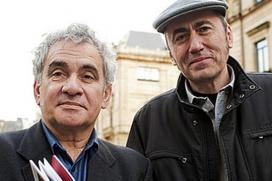Bernardo Atxaga, escriptor basc, i Jabier Muguruza, músic basc
