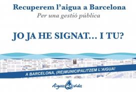 Recollida de signatures per demanar la gestió pública de l'aigua a Barcelona