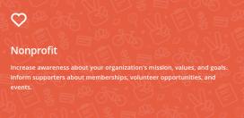La categoria Nonprofits de Mailchimp ofereix diverses possibilitats.