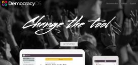Captura de pantalla de la web del projecte Democracyos