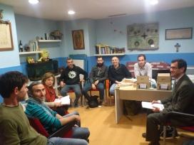 Reunió dels socis i sòcies del grup territorial de Fiare Banca Ètica a Galícia.