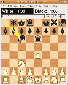 Captura de pantalla GNU Chess