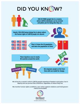 Infografia sobre la situació dels drets LGTBI al món