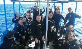 De tornada d'una immersió per anar a veure opistobranquis