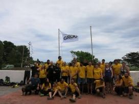 El grup de persones participants a una marató d'opistobranquis