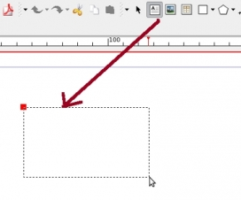 Captura pantalla sobre com inserir una caixa de text