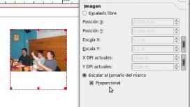 Captura de pantalla sobre com inserir imatges a Scribus