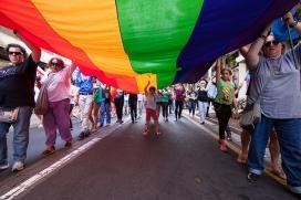 Manifestació en defensa del col·lectiu LGBTI