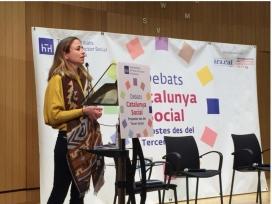 Marta Garcia als Debats Catalunya Social