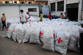 Material d'ajuda de la Creu Roja xilena.