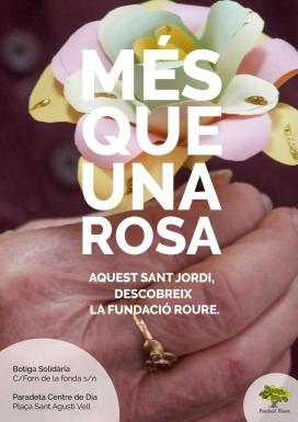 Fundació Roure muntarà dues paradetes per Sant Jordi al barri de Santa Catalina de Barcelona.