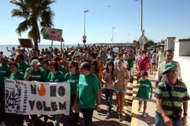 Mobilitzacions contra la plataforma Castor a Alcanar