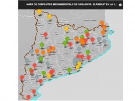 """L'anomenat """"mapa de les merdes"""" recull conflictes ambientals a Catalunya"""