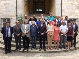 El Grup de Defensa del Ter celebra l'acord amb el conseller Rull i la secretària de medi ambient i sostenibilitat Marta Subirà
