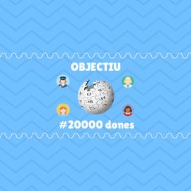 Objectiu 20000 dones a la Viquipèdia