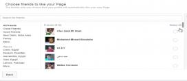 Captura de pantalla on es veu el procés de transofrmació de les amsitats de Facebook en admiradors d'una pàgina de Facebook.
