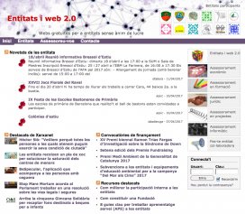 Captura de pantalla de la plataforma de blogs de xarxanet.org