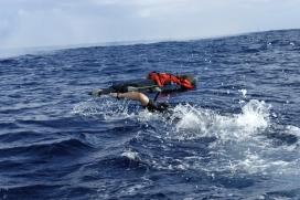 Tasques de salvament marítim al Mar Mediterrani.