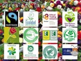 Etiquetes relacionades amb la producció sostenible de flor tallada