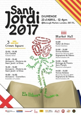 Cartell de la festa associativa de Sant Jordi a Londres