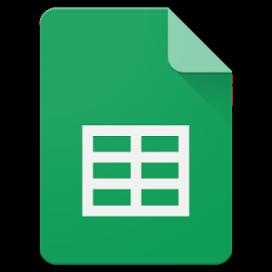 Logotip del Full de Càlcul de Google Drive