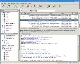 Captura de pantalla de Sylpheed