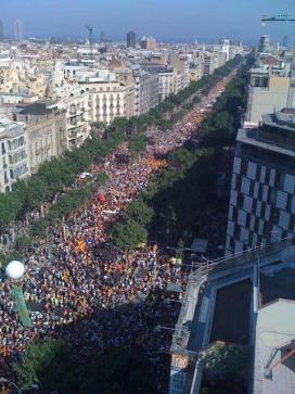 Vista aèria de la manifestació de 2012