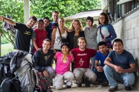 Voluntàries i voluntaris de l'Estiu Solidari de Proide a Guatemala.