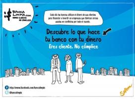 Captura de la portada del lloc web de Banca Limpia