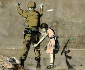Graffiti de Banksy, artista de 'street art'. Font: Banksy