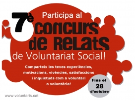 Cartell del 7è Concurs de Relats de Voluntariat Social