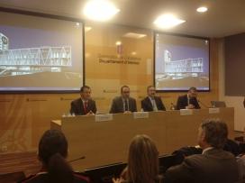 Imatge de la roda de premsa de presentació. Font: www.govern.cat