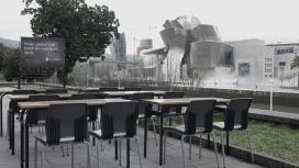 Una aula buida simbòlica a Bilbao