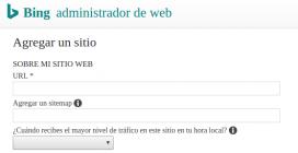 """A BIng també podreu afegir el vostre """"sitemap""""."""