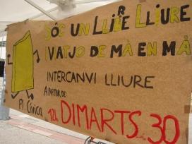 Pancarta de l'acció promocional. Font: FAS