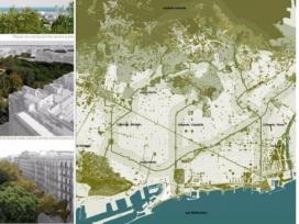 Un dels projectes identificats al mapa és el Pla del Verd i la Biodiversitat de la ciutat de Barcelona (imatge: efuf2017.amb.cat)